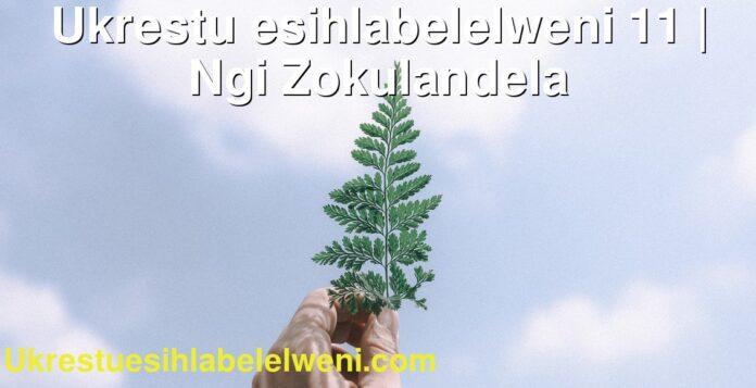 Ukrestu esihlabelelweni 11   Ngi Zokulandela