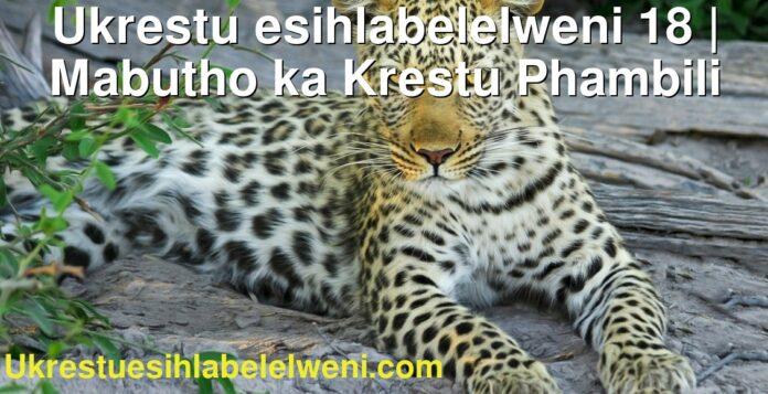 Ukrestu esihlabelelweni 18   Mabutho ka Krestu Phambili