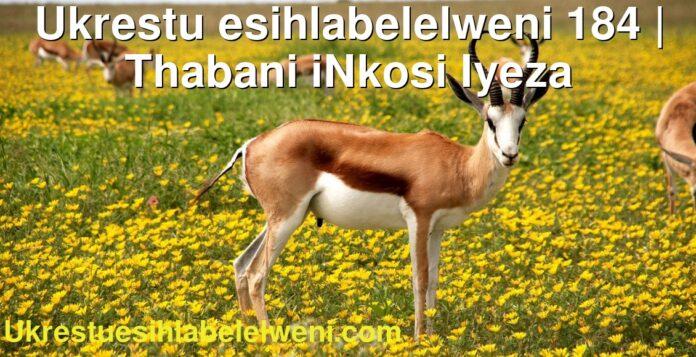 Ukrestu esihlabelelweni 184   Thabani iNkosi Iyeza