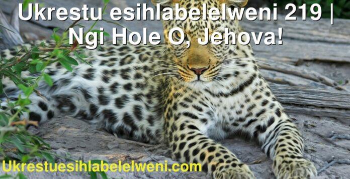 Ukrestu esihlabelelweni 219 | Ngi Hole O, Jehova!